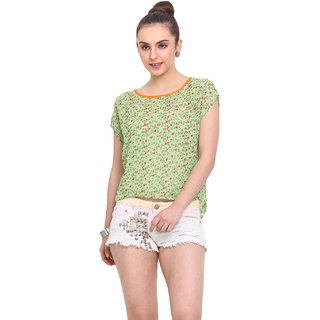 H.O.G. Women Multi Polyester Casual Top (UCI046-A)