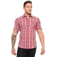 Wajbee Mens 100 Percent Cotton Half Sleeve Shirt