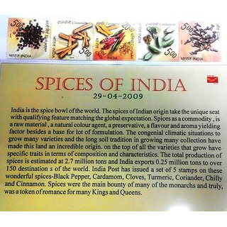 India Post  Spices of India Stamps Pack