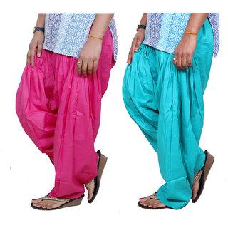Indistar Womens Premium Cotton Patiala Salwar Combo Pack of 2 7130171311-IW