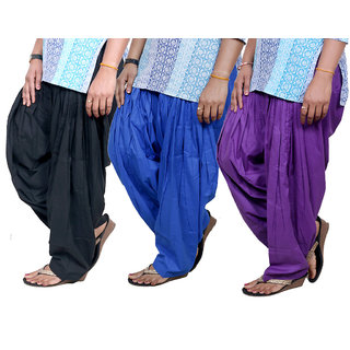Indistar Womens Cotton Patiala Salwar-Combo Pack of 3  713100407-IW