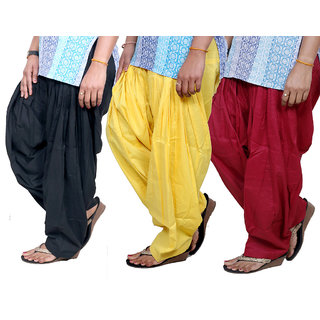 Indistar Womens Cotton Patiala Salwar-Combo Pack of 3  713100803-IW