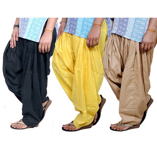 Indistar Womens Cotton Patiala Salwar-Combo Pack of 3  713100805-IW