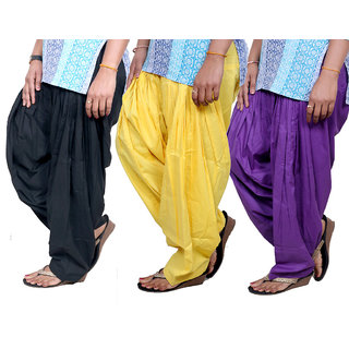Indistar Womens Cotton Patiala Salwar-Combo Pack of 3  713100807-IW