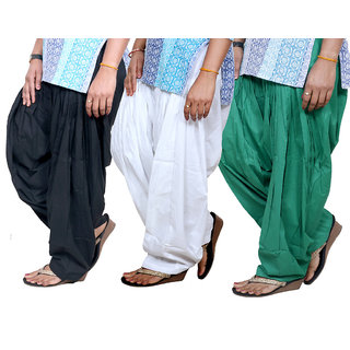 Indistar Womens Cotton Patiala Salwar-Combo Pack of 3  713100902-IW