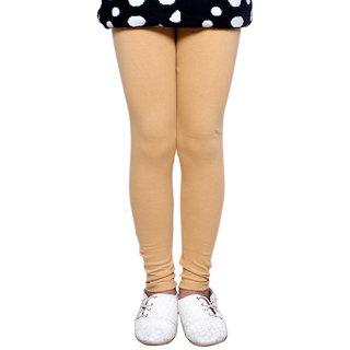 Indiweaves GirlS Super Soft Cotton Beige Leggings