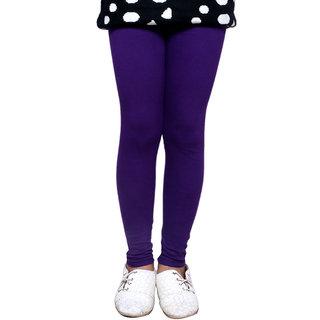 Indiweaves GirlS Super Soft Cotton Purple Leggings