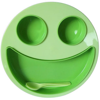 2pcs Smiley Face Plates for Kids