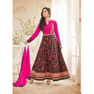 Ethnic Culture Multi Bhagalpuri Silk Semi-stitched Anarkali Suit 1884-36520