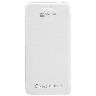 quality design f46bd 6403e Evoque Flip Cover For Micromax Canvas Doodle 4 Q391 - White