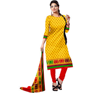 Subhash Sarees Daily Wear Yellow Color Micro Dress Material