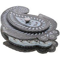 Decorative Menakari Handmade Work Mukhvas And Dryfruits Box
