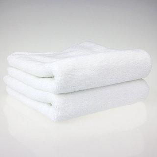housee india Plain White  2 Hand Towel