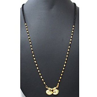 Golden black beads nice mangalsutra