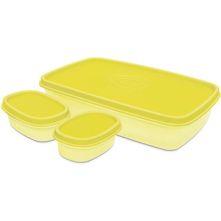 Milton I Fresh 1000ml with 2 Inner Plastic Containerss- Yellow