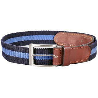 Sash Blue Canvas Pin Buckle Casual Belt For Men