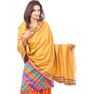 Weavers Villa Kashmiri Gorgeous Yellow Shawl