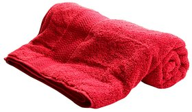 Beutiful Red Cotton Bath Towel