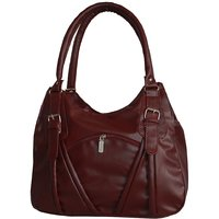 Stunner Front Pocket  Maroon Non Leather Hand Bag