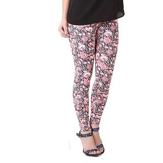Stylish Multicolor Maska Printed Leggings For Women