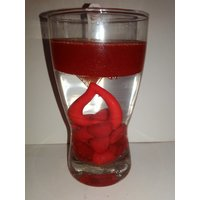 Magic Gel Red Candle With Red Heart