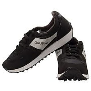 gold star shoes black