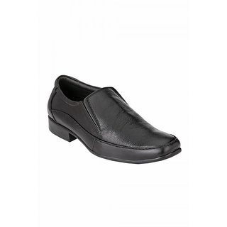 Allen mark black leather formal shoes
