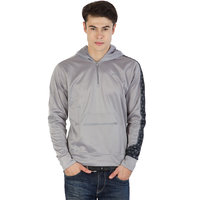 Fila Mens  Grey and Black Full Sleeve Sweatshirts