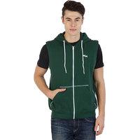Fila Mens  Green Sleeveless Sweatshirts