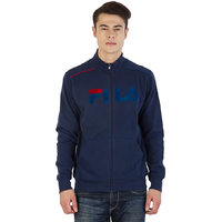 Fila Mens  Blue Full Sleeve Sweatshirts
