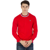 Fila Mens Red,White and Black Long Sleeve Sweaters