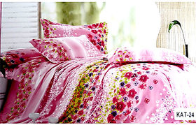 Tulaasi multiColor Floral SANDS KATRINA Double Bed Sheets with Pillow