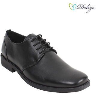 Delize Men's Black Formal Shoes Option 3