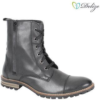 Delize Men's Black Boots Option 3