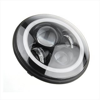 7 Round LED Headlights Halo Angle Eyes for Hummer, Jeep, Toyota Etc.