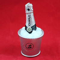 11cm Champagne In An Ice Bucket Design Wax Candle In Box For Perfect Moments