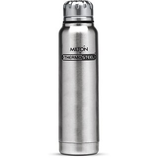 Milton Thermosteel Slender 500Ml Insulated Steel Bottle - Steel Plain