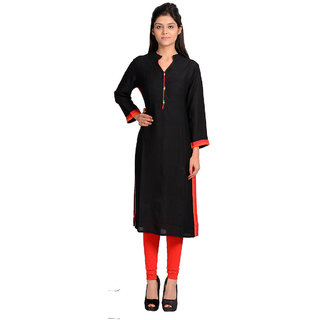 Vasavi Premium Quality Black Colour Jaipur Cotton Kurti