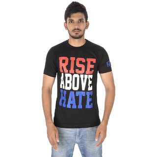 Johncena Rise Above Hate Black Cotton Tshirts For Mens
