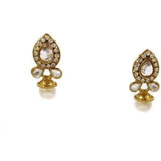 SK White Colour Fashion Earrings - DSCN0273W