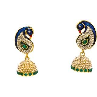 SK Green Colour Fashion Earrings - DSCN0274G