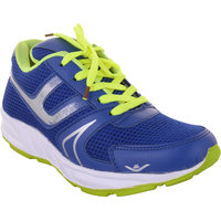 Dev Sport Men's Blue And Green Lace Up Sport Shoes