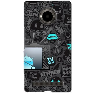 G.Store Hard Back Case Cover For Micromax Yu Yuphoria 16225