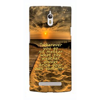 G.Store Hard Back Case Cover For Oppo Find 7 17826