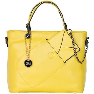 Edel Satchel Yellow Ladies Hand Bag