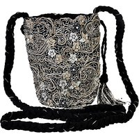 Diwaah Girls Casual Silver Canvas Sling Bag SLBE2WFAQE2YHWKV