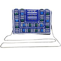 Diwaah Women Evening/Party Blue Cotton Sling Bag SLBEBEYPDG2WWYAZ