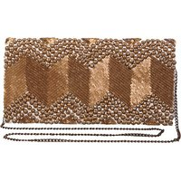 Diwaah Women Evening/Party Gold Silk Sling Bag SLBEBEYPJ7GJCUGQ