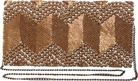 Diwaah Women Evening/Party Gold Silk Sling Bag SLBEBEYPJ7GJCUGQ