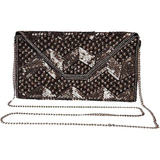 Diwaah Women Evening/Party Silver Canvas Sling Bag SLBEBEYPQK5GBMZU